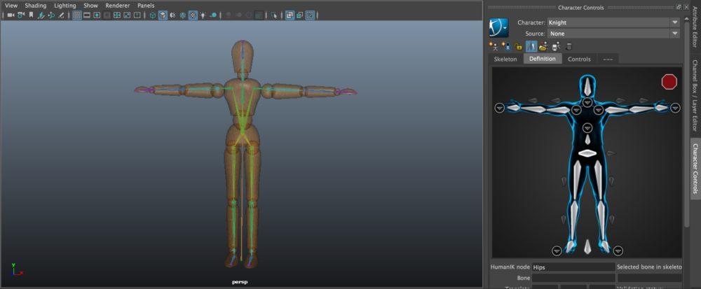 Autodesk Maya - IK / HumanIK   STYLY
