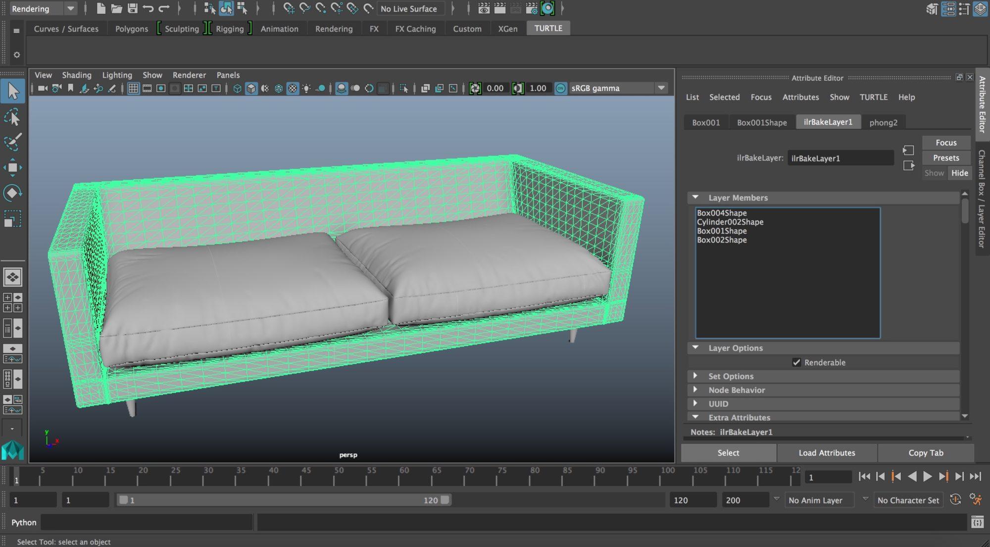 Autodesk Maya – Texture Baking (Ambient Occlusion)