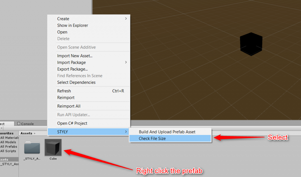 how to add assets to unity