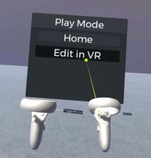 VR Edit Modeを起動