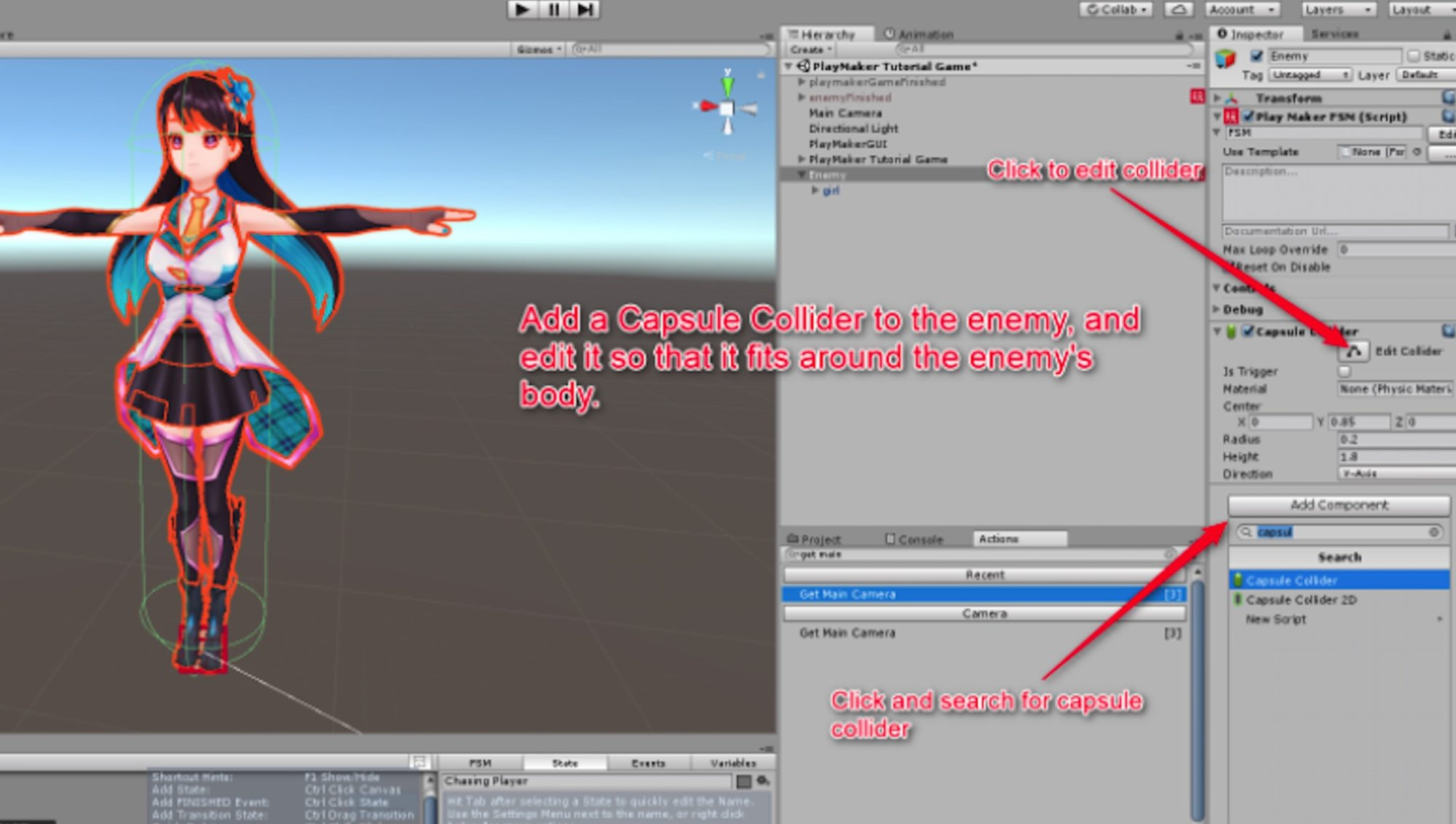 [Unity/PlayMaker] How to Make a VR Shooting Game  Enemy Character Settings