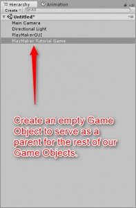 Create a game object