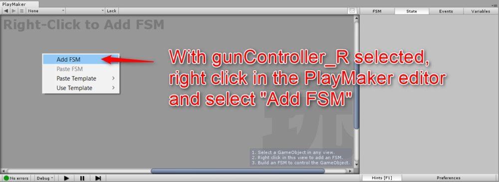 オブジェクトにFSMを追加