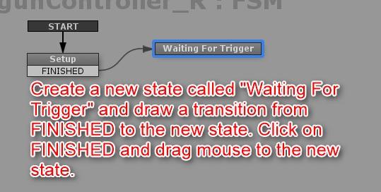 Set the FSM for the gun controller