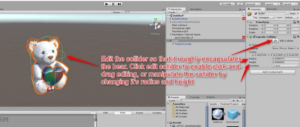 Colliderの形を編集