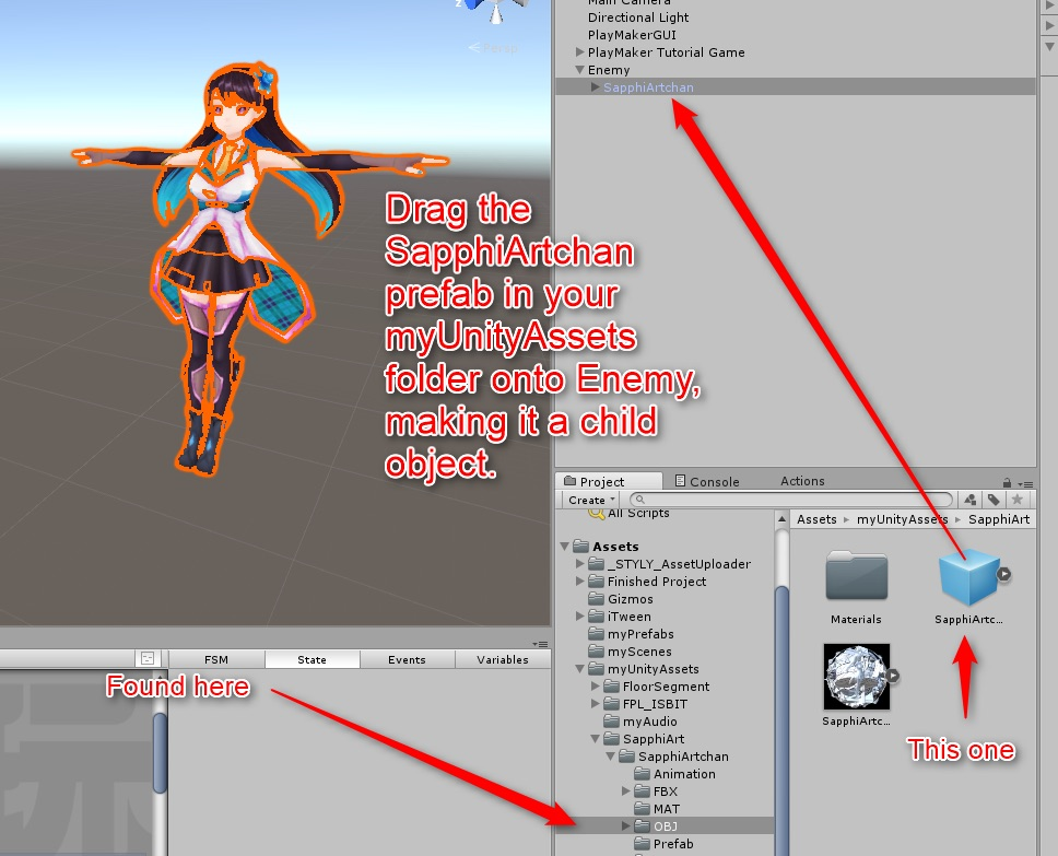 Using PlayMaker to create a game, and exporting it to STYLY -5- | STYLY