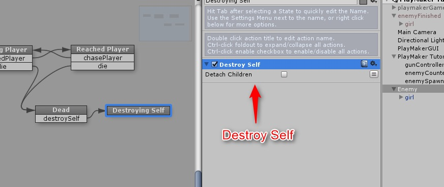 Destroy Selfアクションの追加