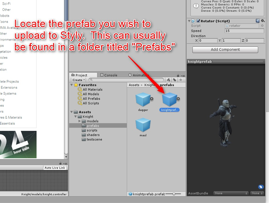 Import assets from external sites | STYLY
