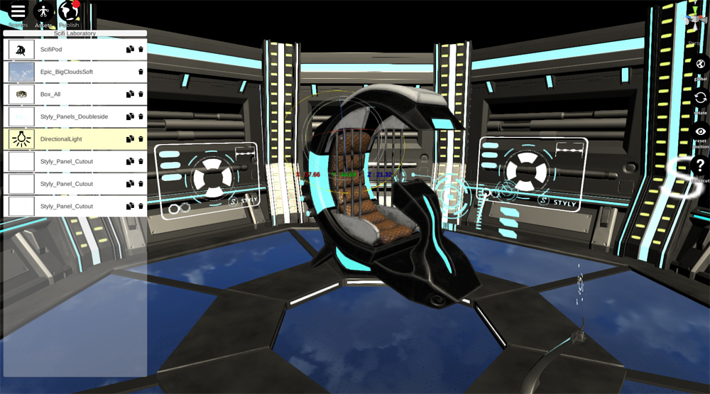 VR space, 'Sci-Fi Laboratory' #3 Unity | STYLY