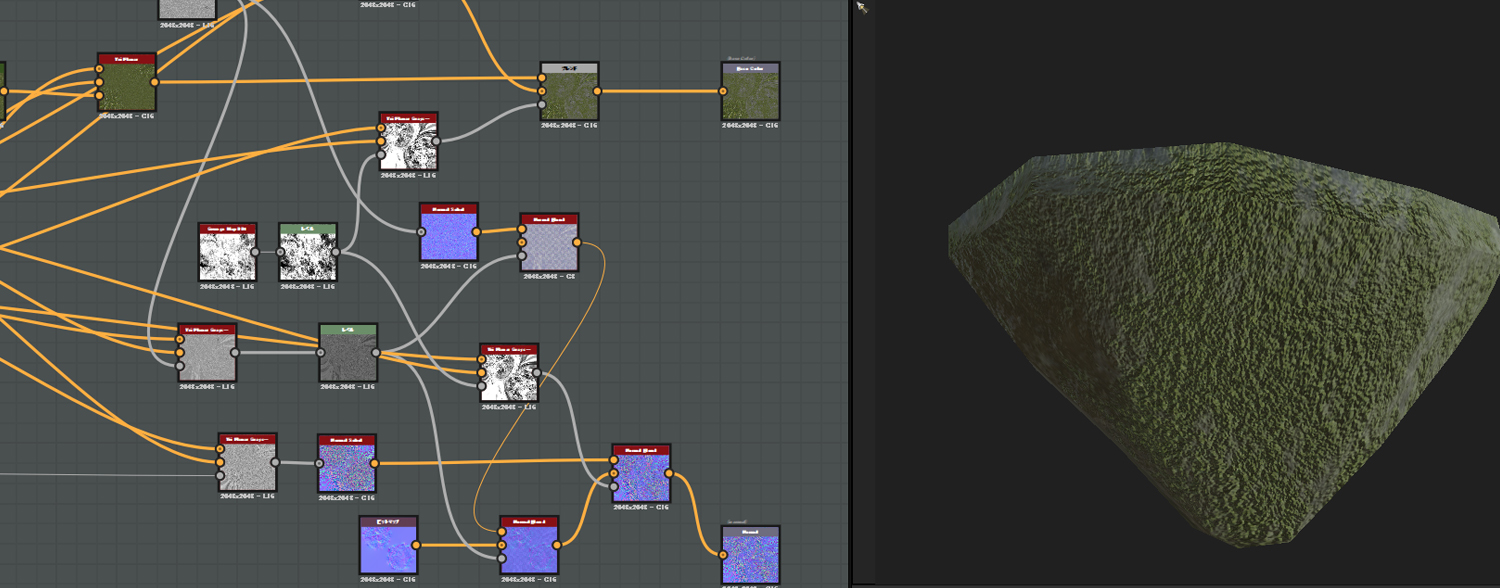 Substance DesignerのTri Planer Node -VR空間 TREASURE HUNTERの作り方 –