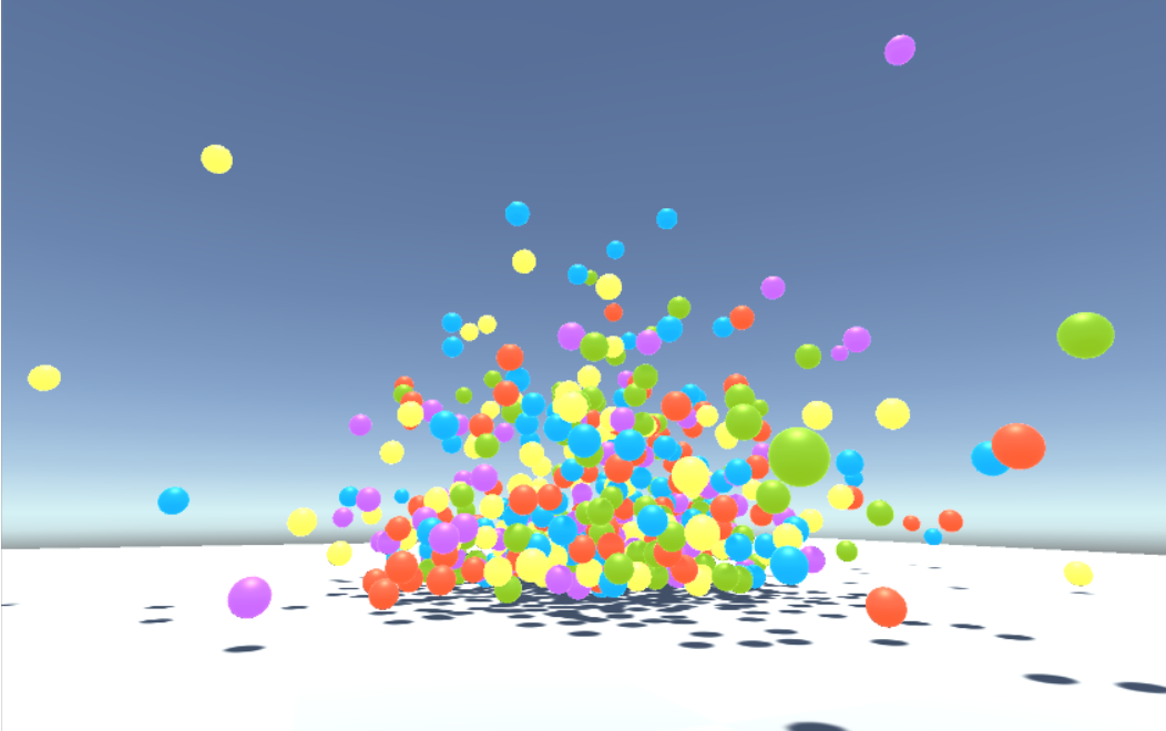 Create a lot of superballs with Unity and PlayMaker