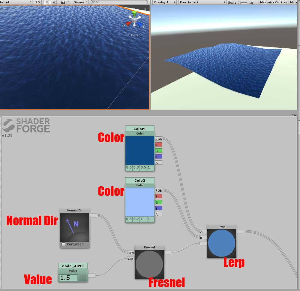 How to make a Shader for waves by Shaderforge | STYLY