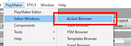 Action Browserの起動