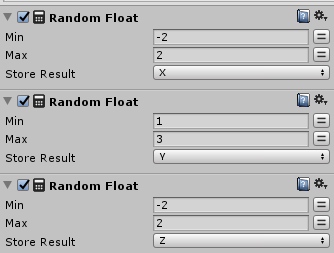 Random Floatの設定