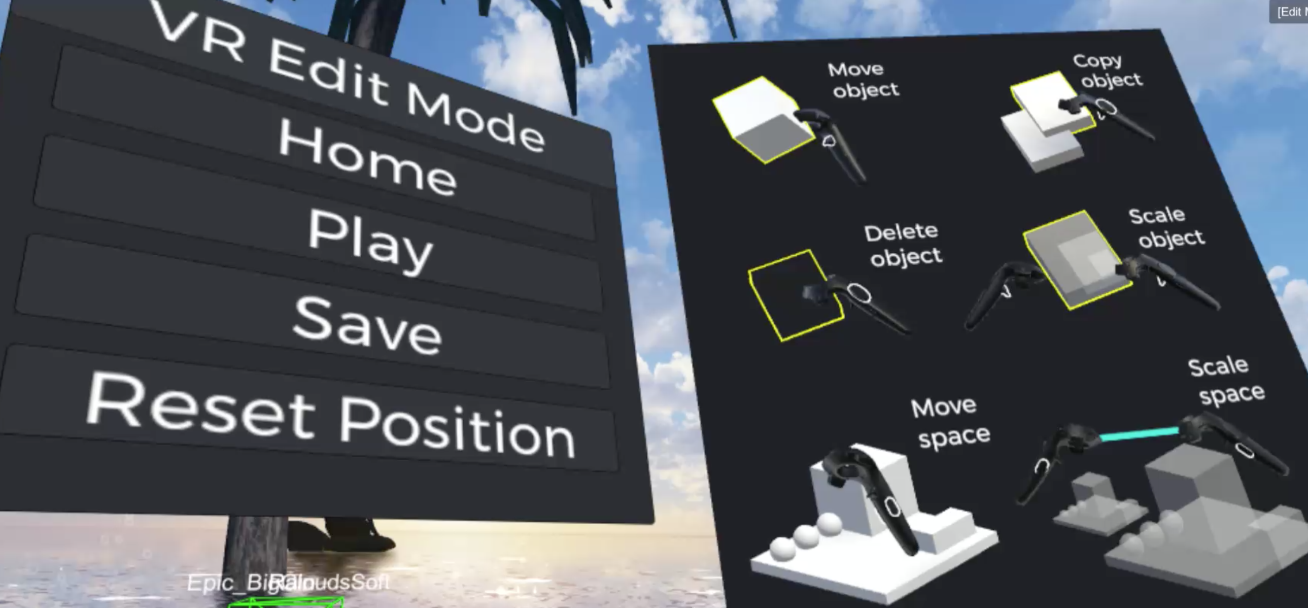 "How to use the ""VR Edit Mode"" function"