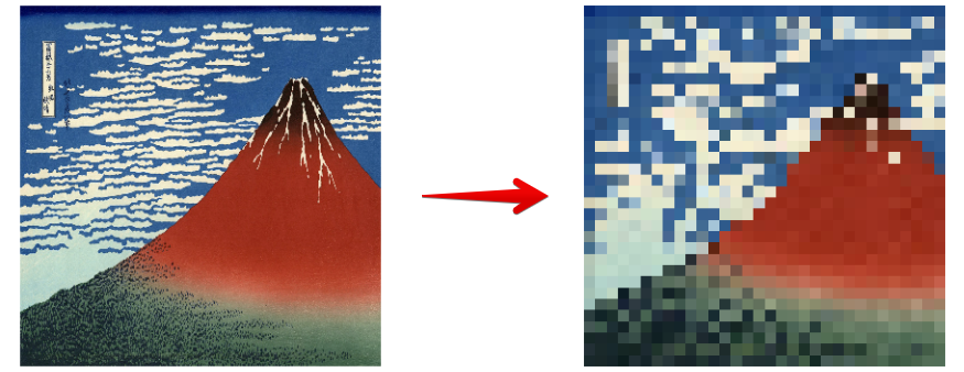 Adding a Mosaic effect to a 2D image using Unity