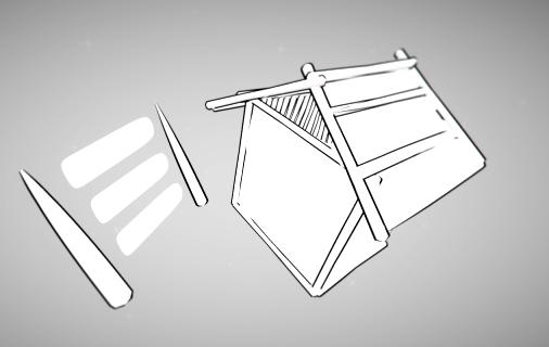Toonを使用した家の描き方例