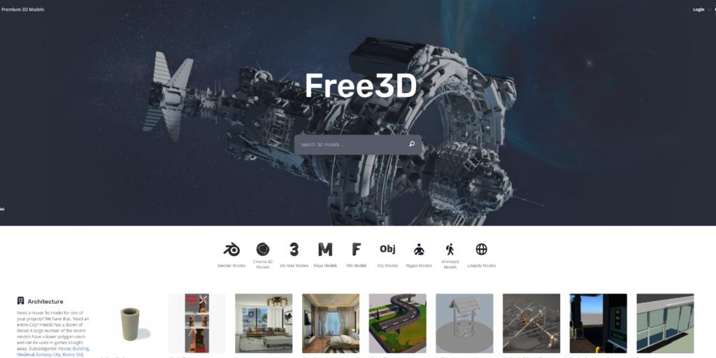 free 3d models download sites