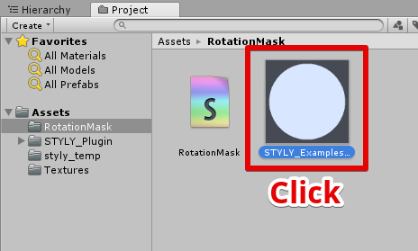 Rendering of masked rotating 2D image with Unity | STYLY