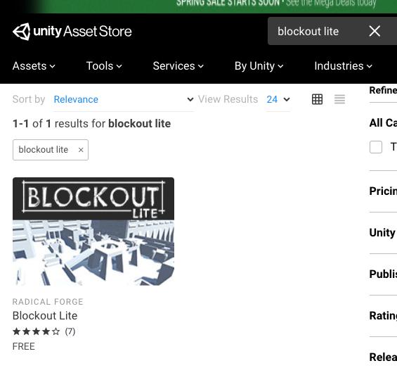 Blockout Liteで検索