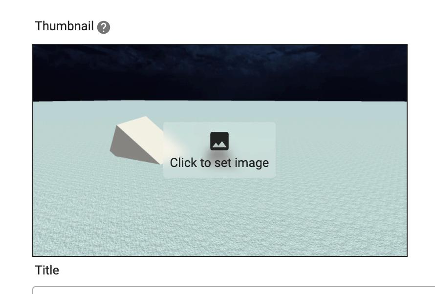 「Click to set image」をクリック