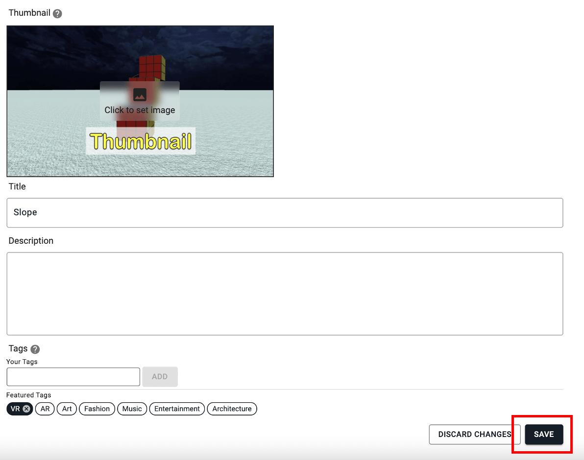 右下の「SAVE」をクリック