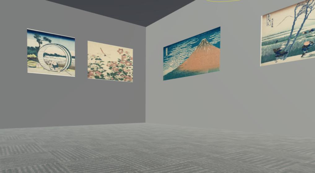 無料公開されている有名美術作品を使用してVR個展を作ってみた