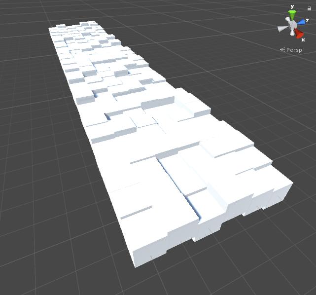 立方体を並べる