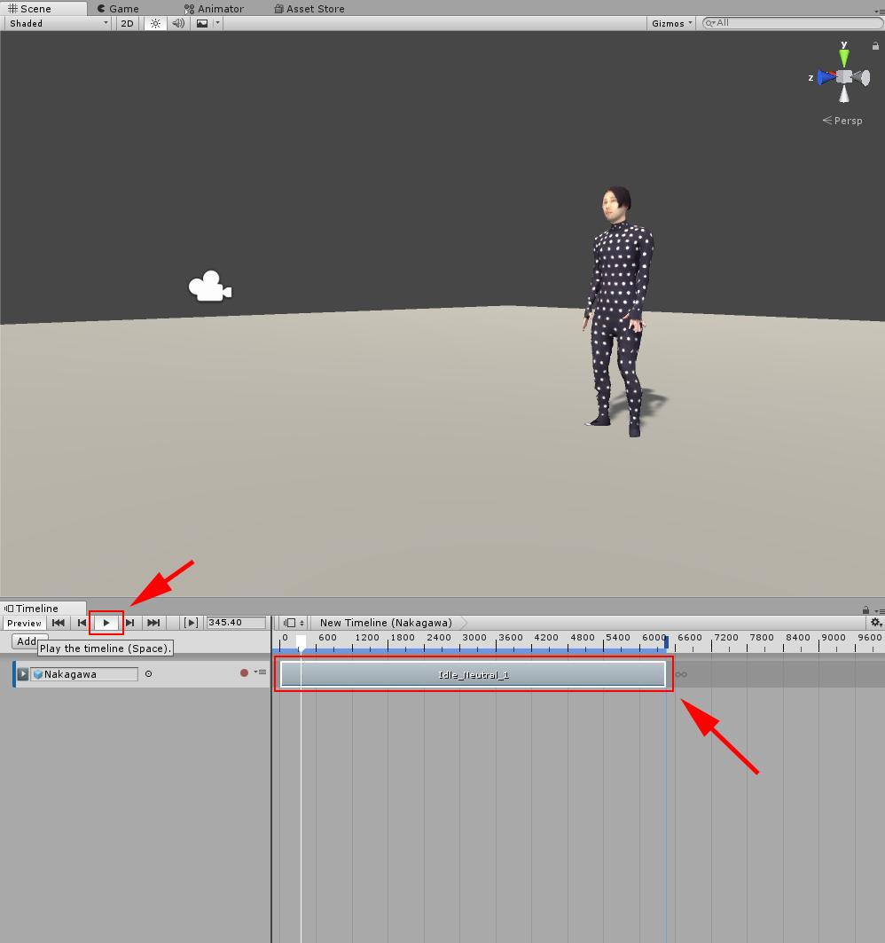 Animation Clipが設定された