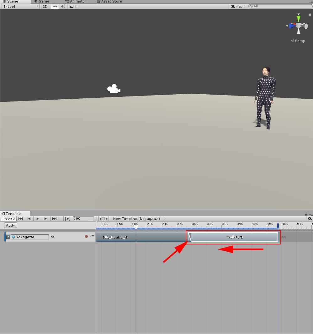 Animation Clipをブレンドさせる