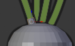 頭の草の位置に円柱を動か