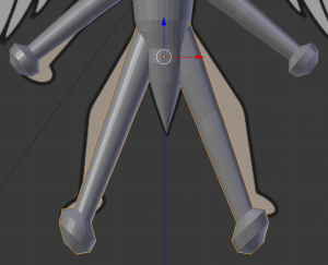 脚の長さと角度を大体の感じでつくる