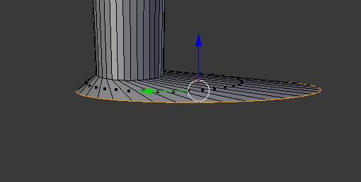 足の縦幅を作る