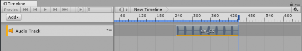 AudioClipがTimelineに登録される