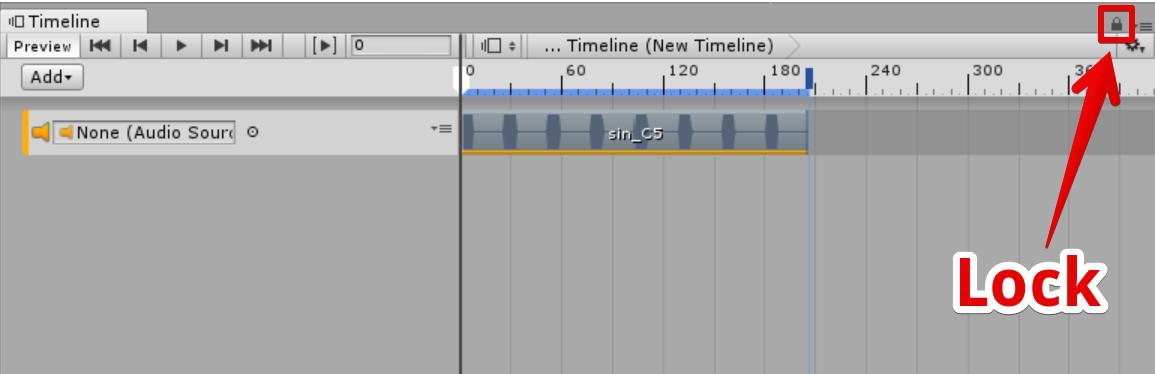 Timelineをロック