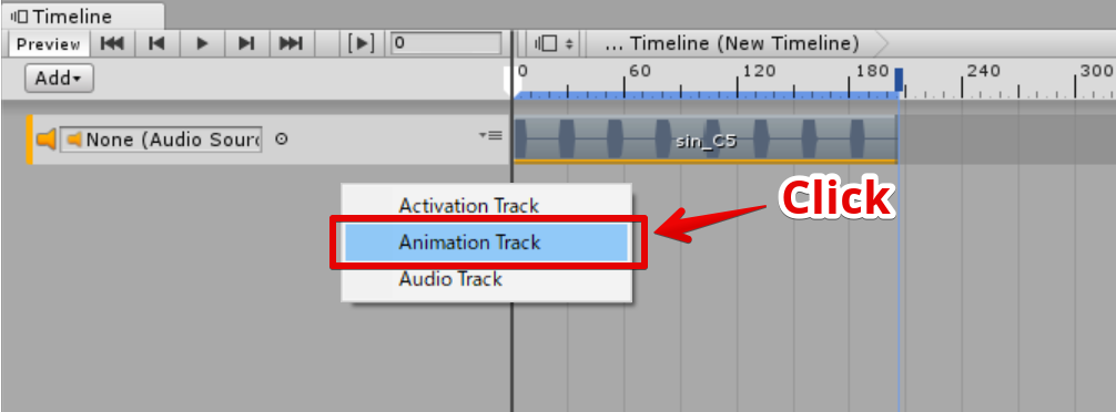 Animation Track を選択
