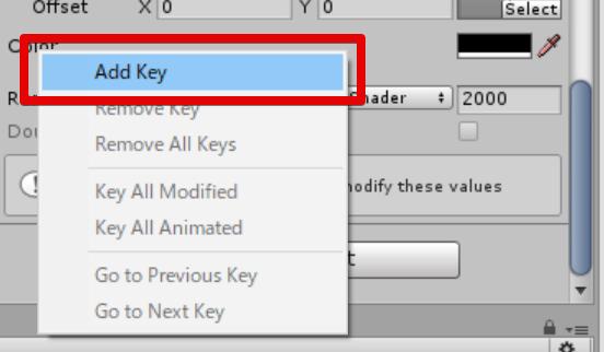 Add Keyを選択