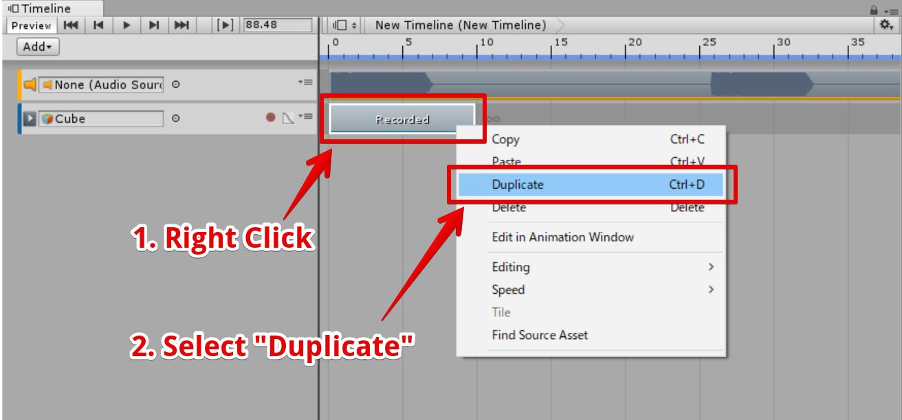 ClipTrackを複製