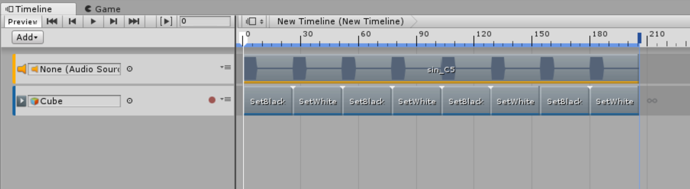 How to synchronize sound and shader by using Unity's Timeline