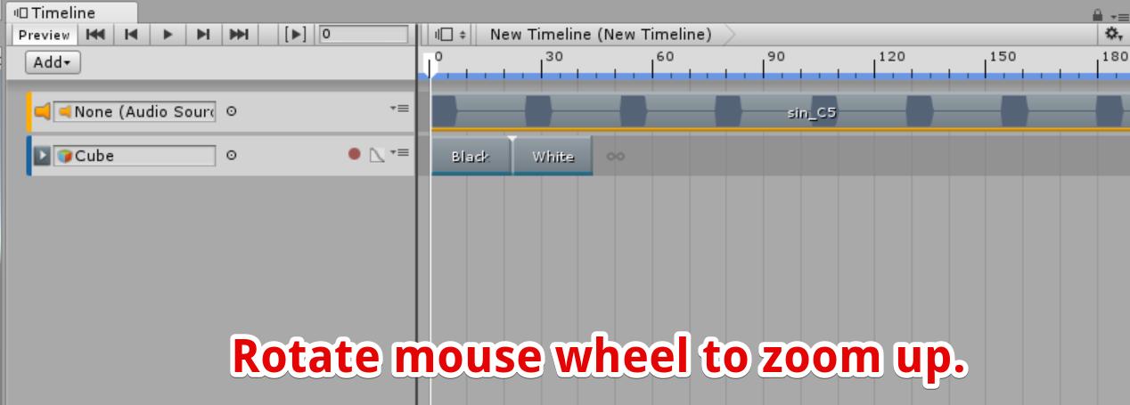 マウスホイールを回転させてウィンドウを拡大する