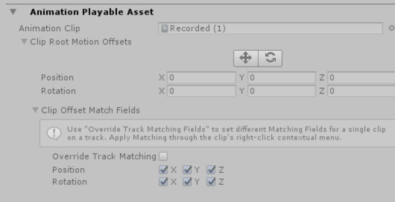 シーンを保存していない場合、Animationクリップ名入力欄が表示されない