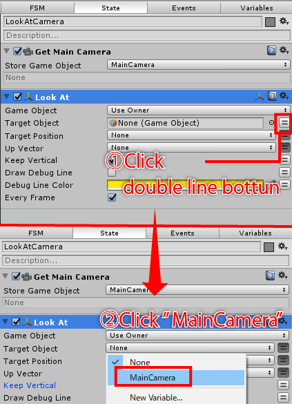 Keep 2D image facing the main camera with PlayMaker | STYLY