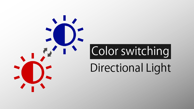 Color Switching Directional Light