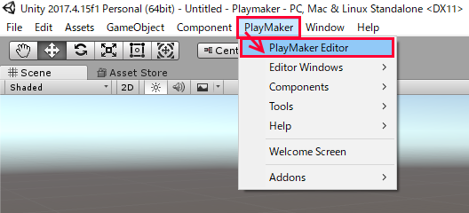 Unity Tutorial】Creating a game using Playmaker① From basic