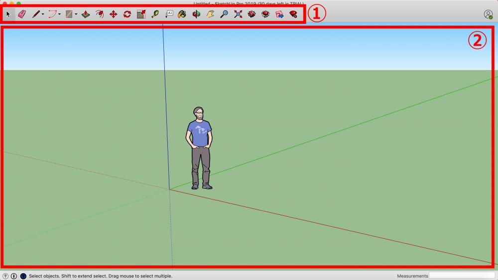 SketchUp new scene (Simple, Meters)