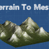 [Unity] Separate Terrain into Mesh and Texture with 'Terrain To Mesh'