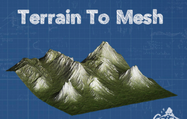 Separate Terrain into Mesh and Texture-TerrainToMesh | STYLY