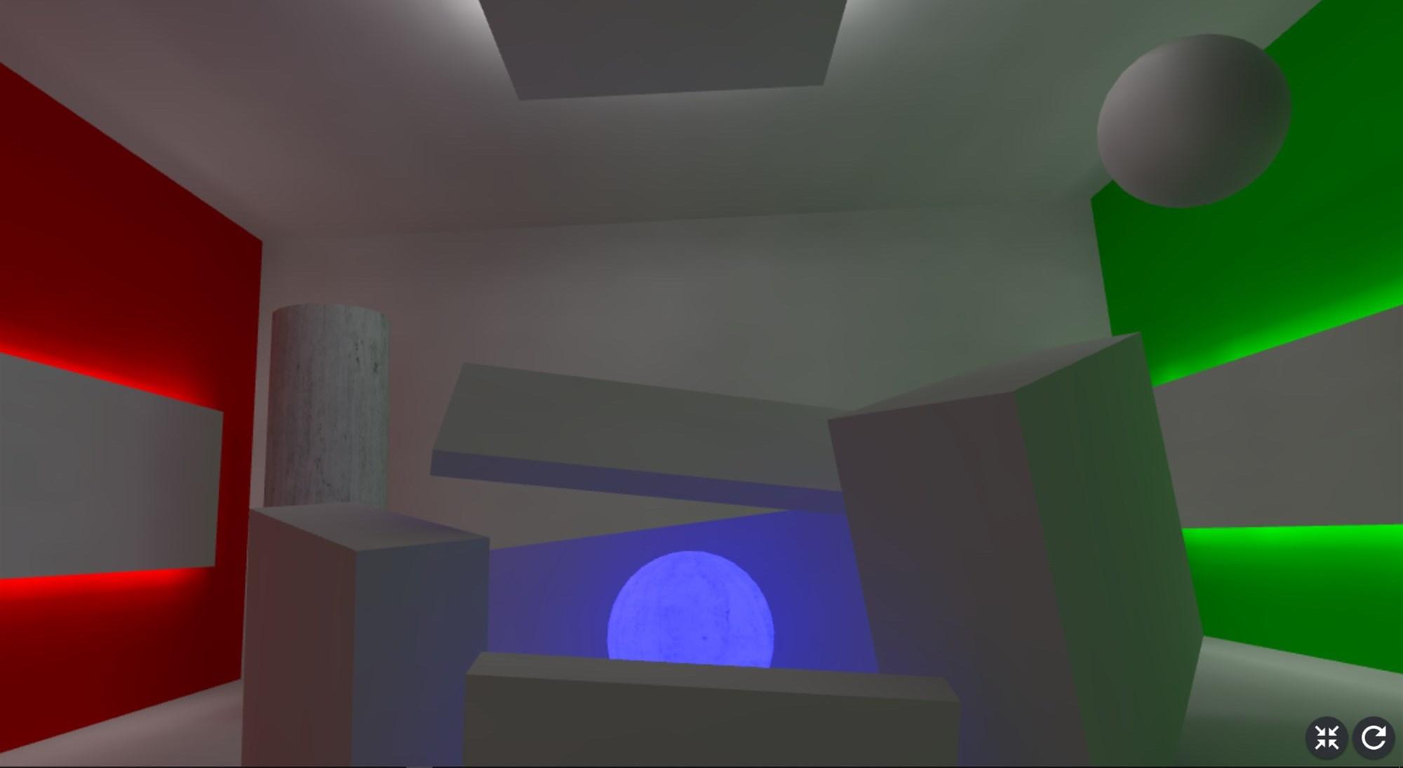 GIで間接光を効かせた部屋