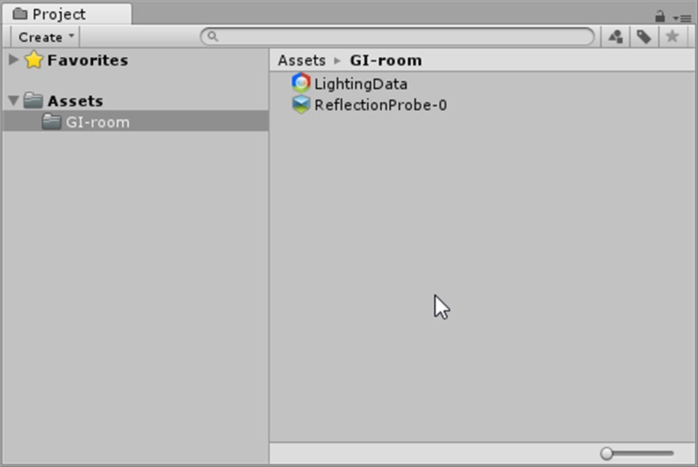 Lightingデータができている
