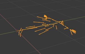 Blender2.8でVRMを読み込んだ結果